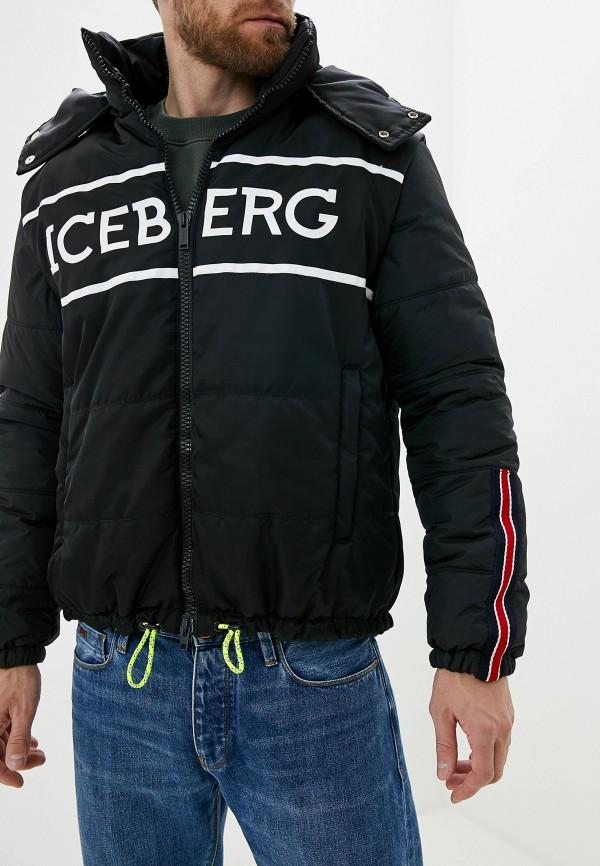 мужской пуховик iceberg, черный