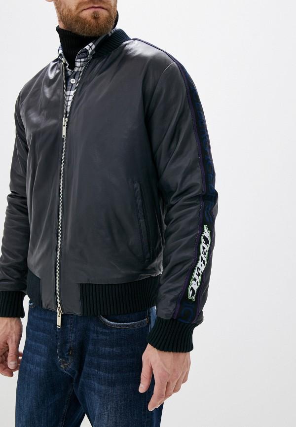 мужская кожаные куртка iceberg, синяя