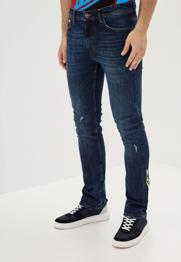 мужские зауженные джинсы iceberg, синие