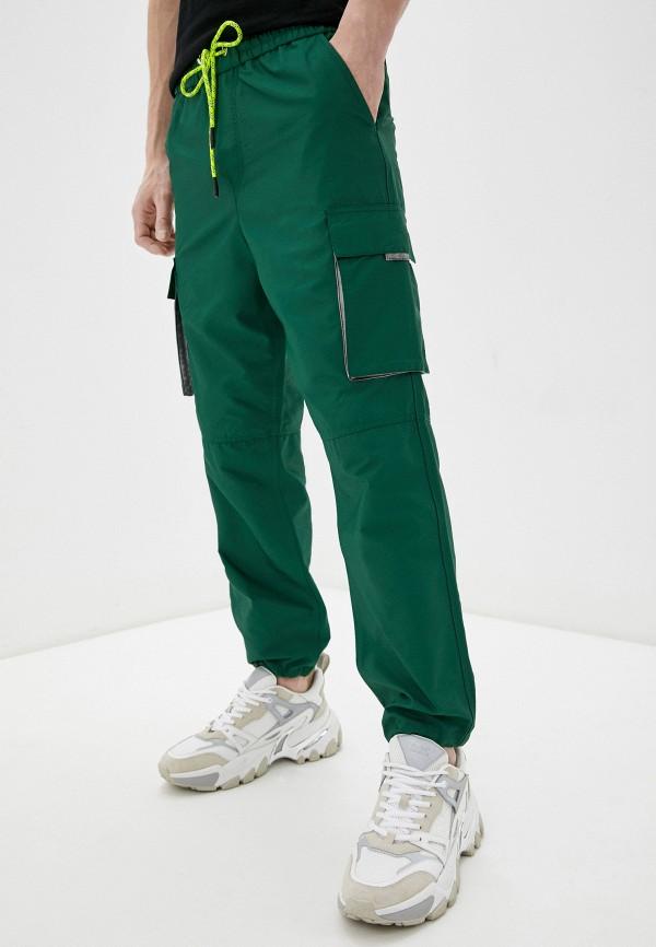 мужские повседневные брюки iceberg, зеленые