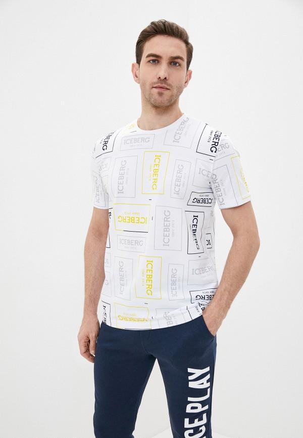 мужская футболка с коротким рукавом iceberg, белая