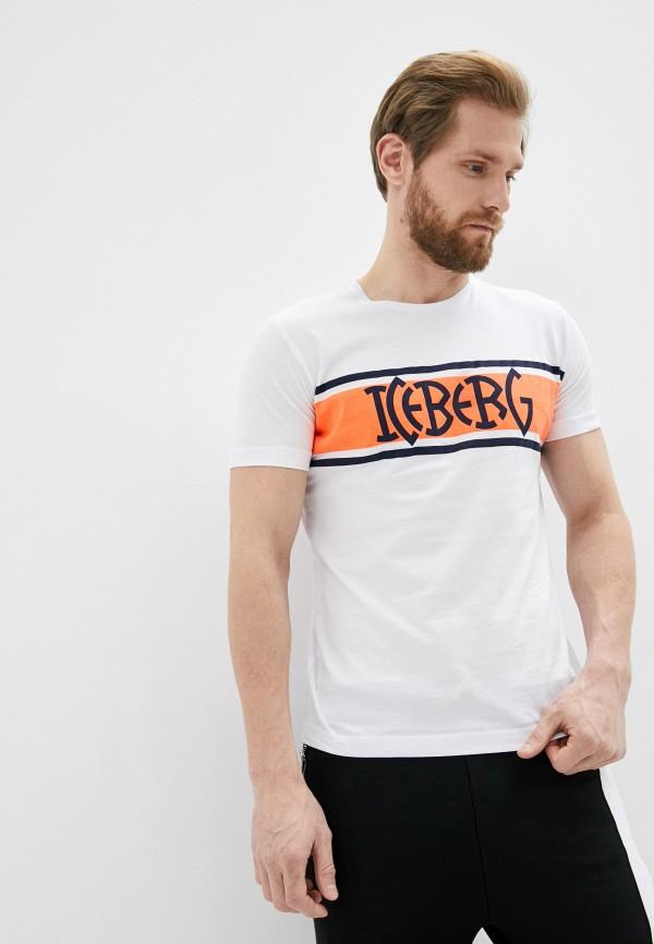 мужская футболка iceberg, белая