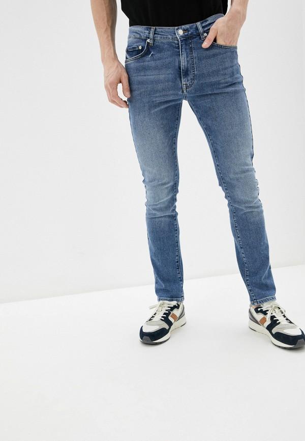 мужские зауженные джинсы iceberg, голубые
