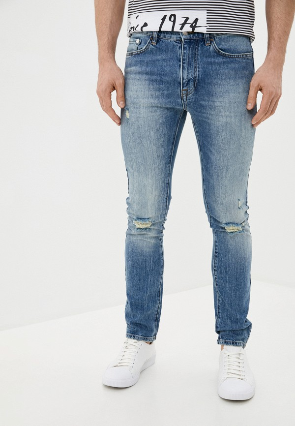 мужские прямые джинсы iceberg, голубые