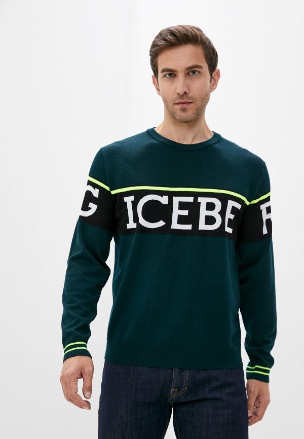 мужской джемпер iceberg, зеленый