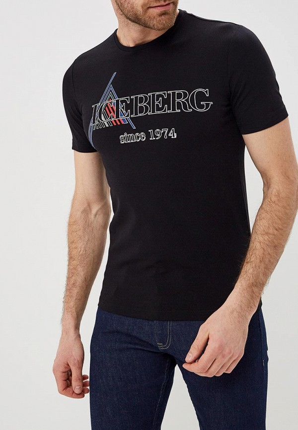 мужская футболка iceberg, черная