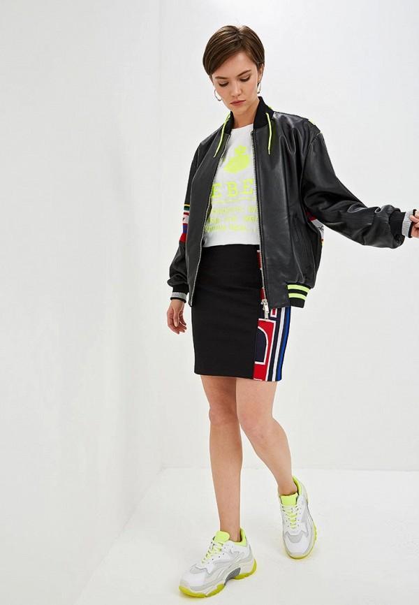 Фото 2 - женскую юбку Iceberg черного цвета