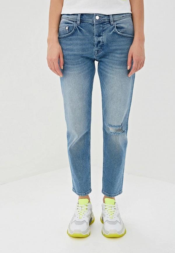 женские джинсы бойфренд iceberg, голубые