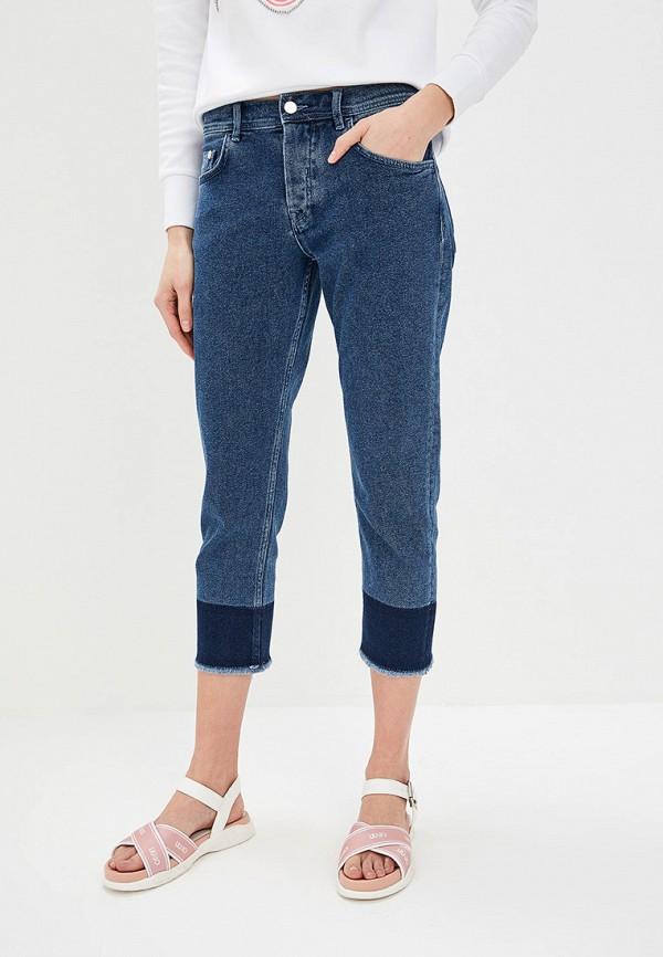 женские прямые джинсы iceberg, синие