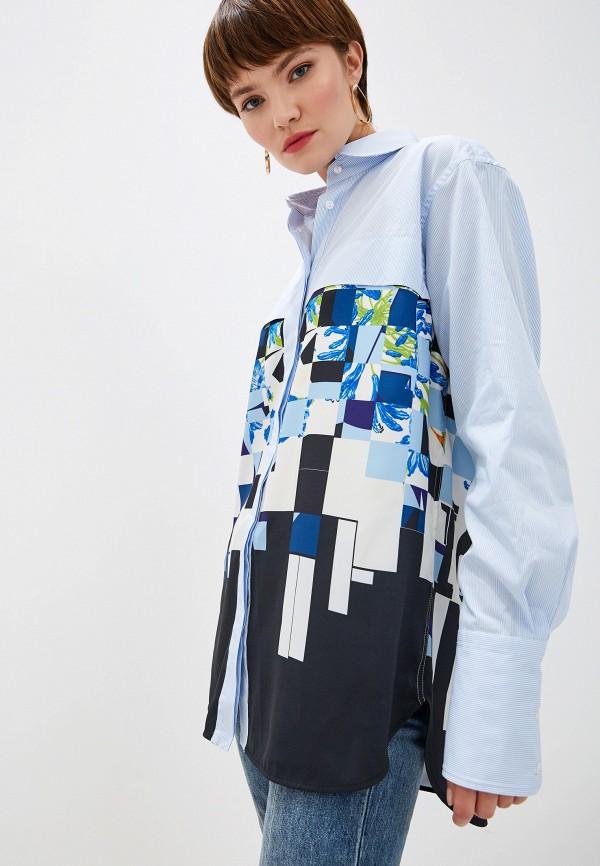 женская блузка с длинным рукавом iceberg, голубая