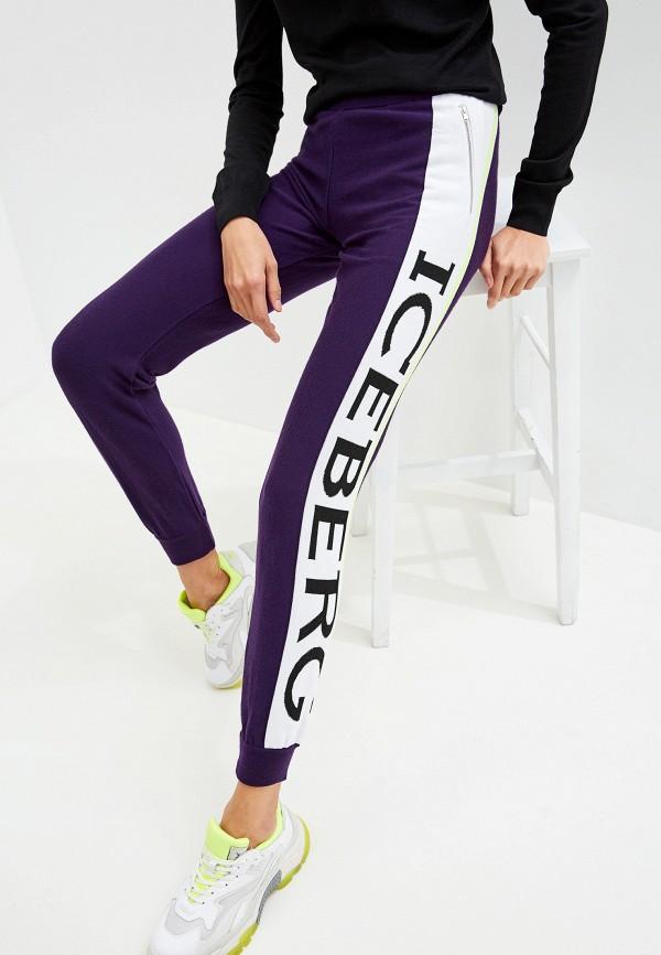 женские спортивные спортивные брюки iceberg, фиолетовые