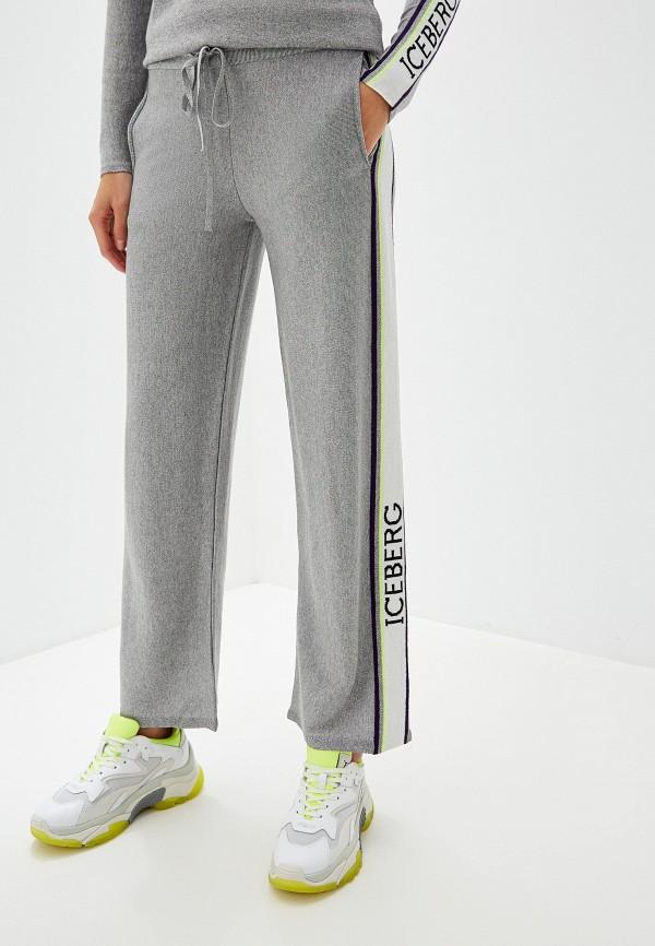 женские спортивные спортивные брюки iceberg, серебряные