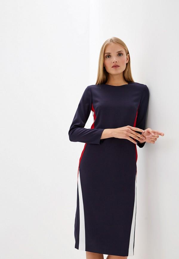 женское платье-футляр iceberg, синее