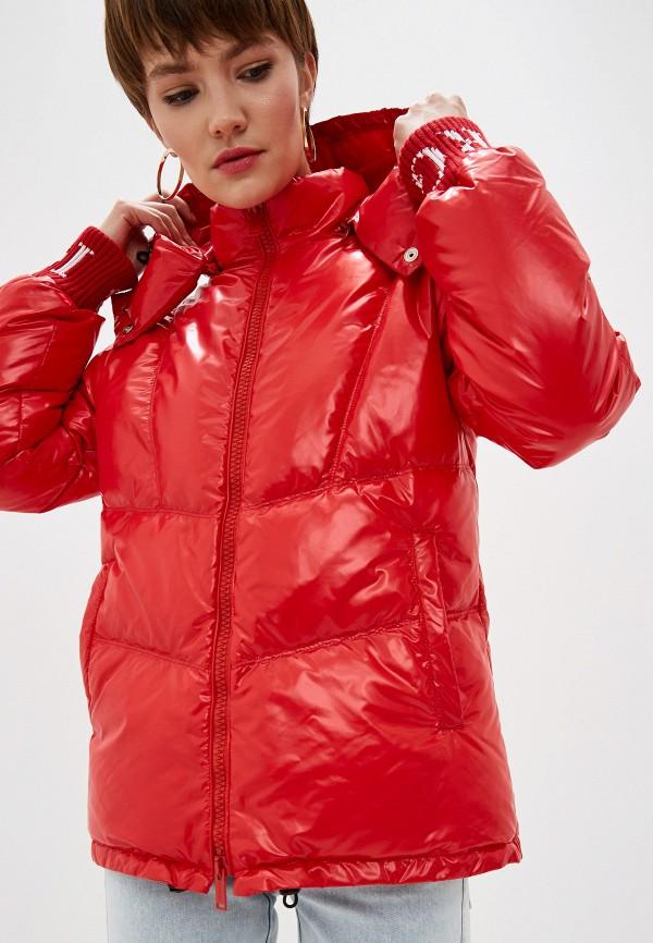 женский пуховик iceberg, красный