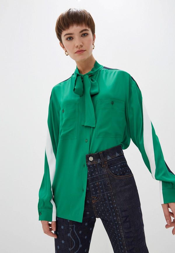 женская блузка iceberg, зеленая