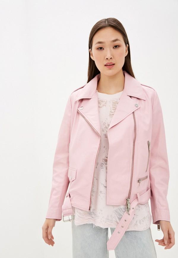женская куртка iceberg, розовая