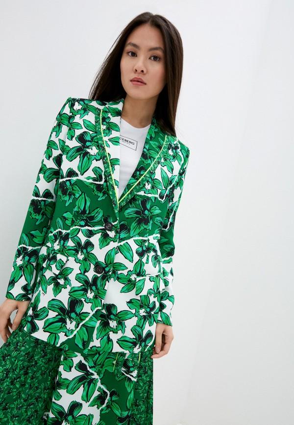 женский пиджак iceberg, зеленый