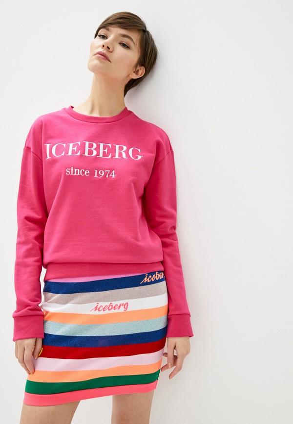 женский свитшот iceberg, розовый