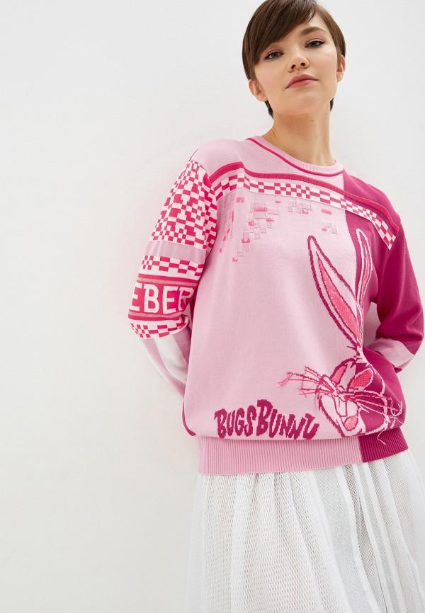 женский джемпер iceberg, розовый