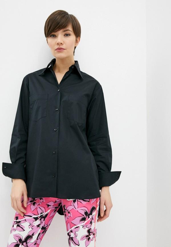 женская рубашка с длинным рукавом iceberg, черная