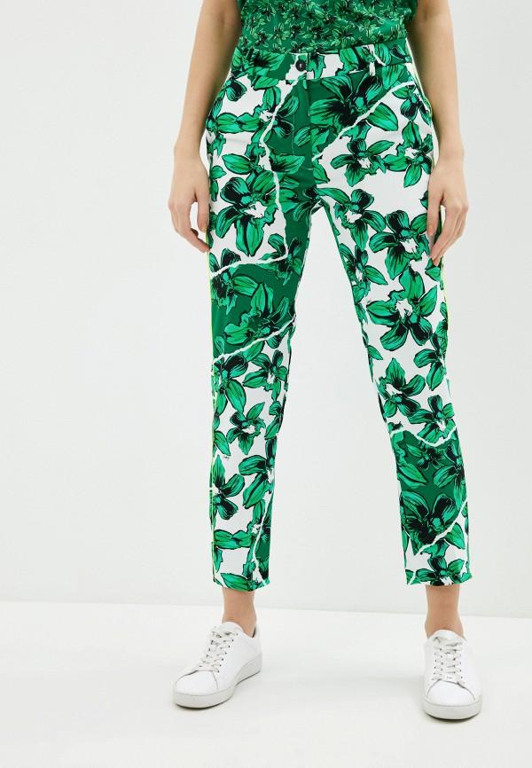 женские повседневные брюки iceberg, зеленые