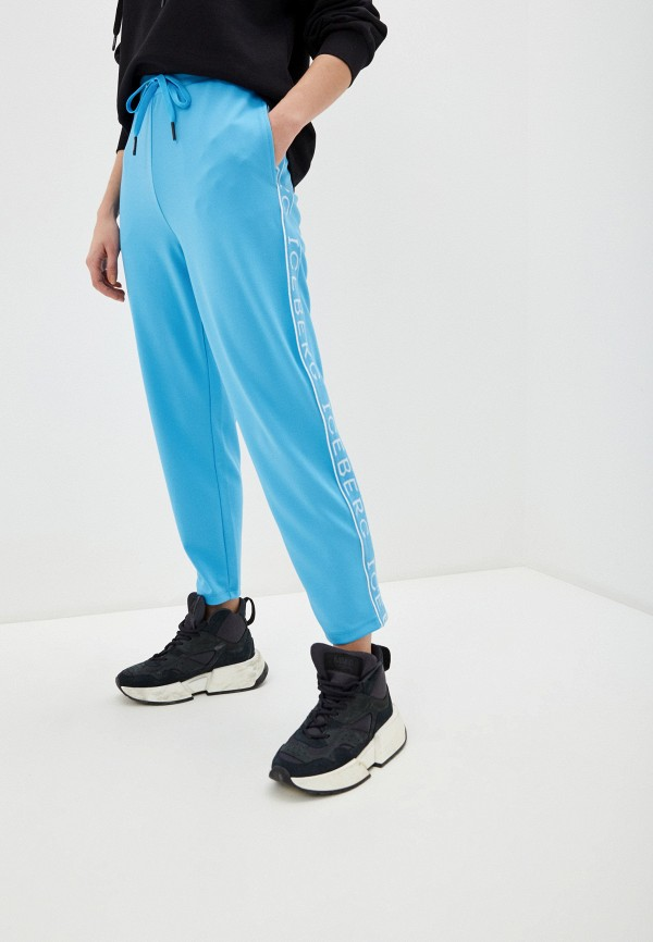 женские спортивные брюки iceberg, голубые