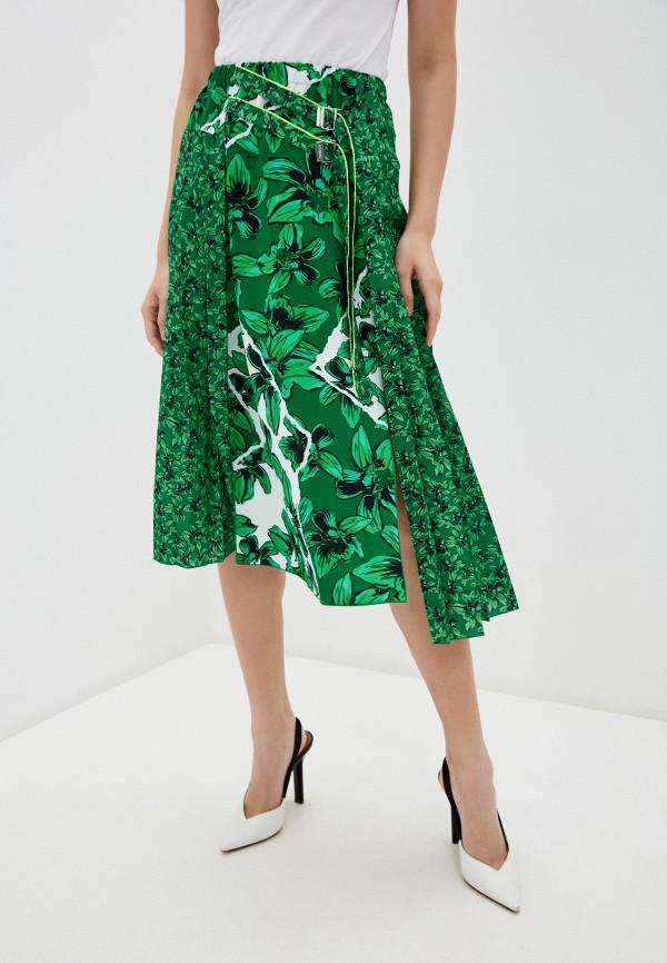 женская юбка-трапеции iceberg, зеленая