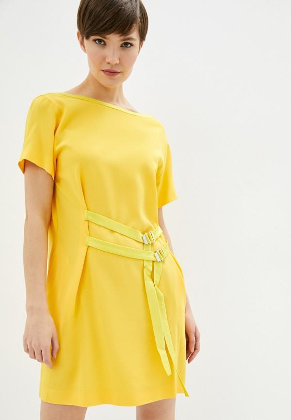 женское повседневные платье iceberg, желтое