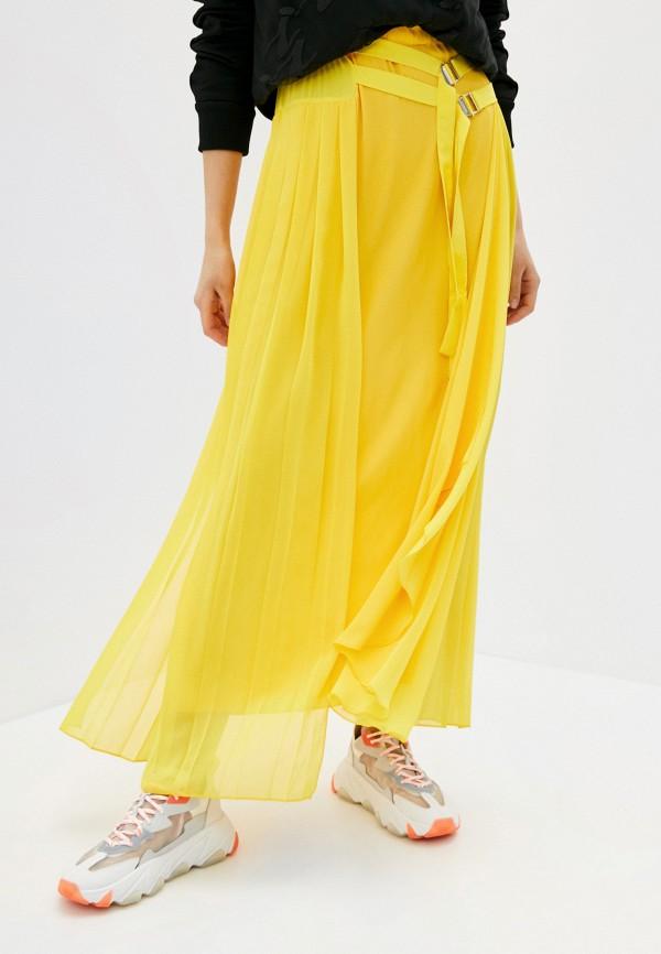 женская юбка iceberg, желтая