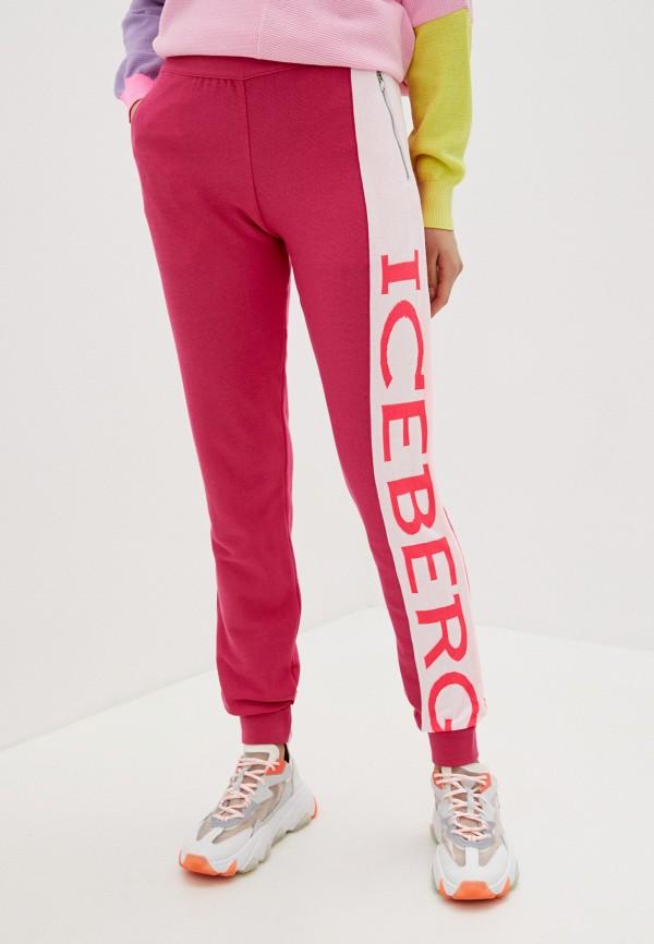 женские спортивные брюки iceberg, розовые