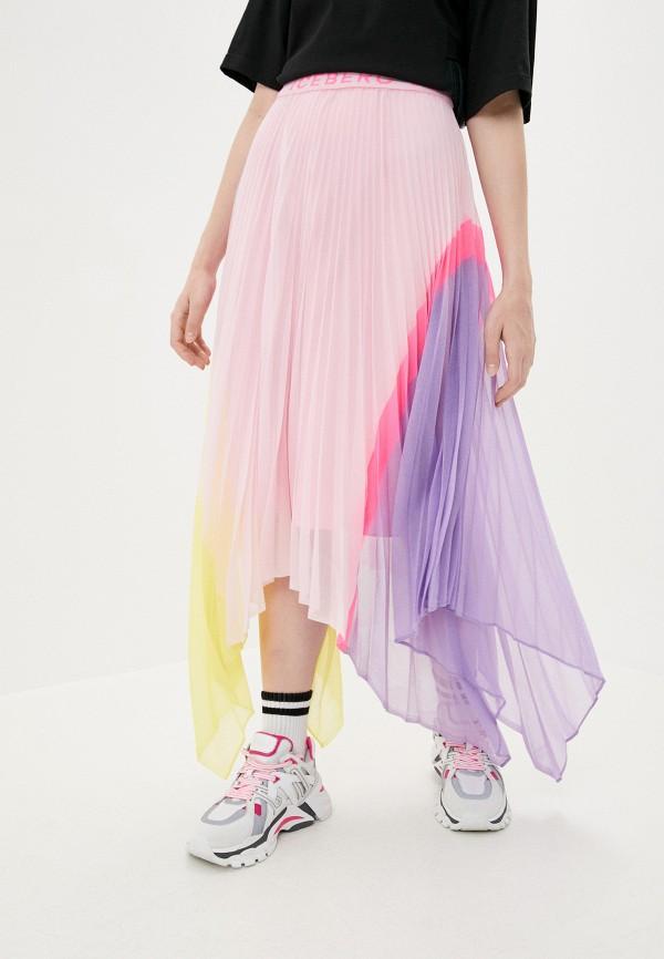 женская юбка iceberg, розовая