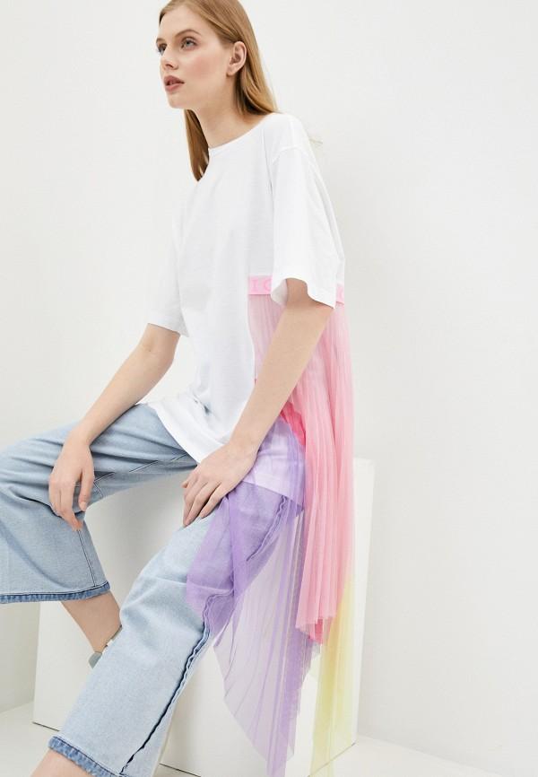 женская футболка iceberg, белая