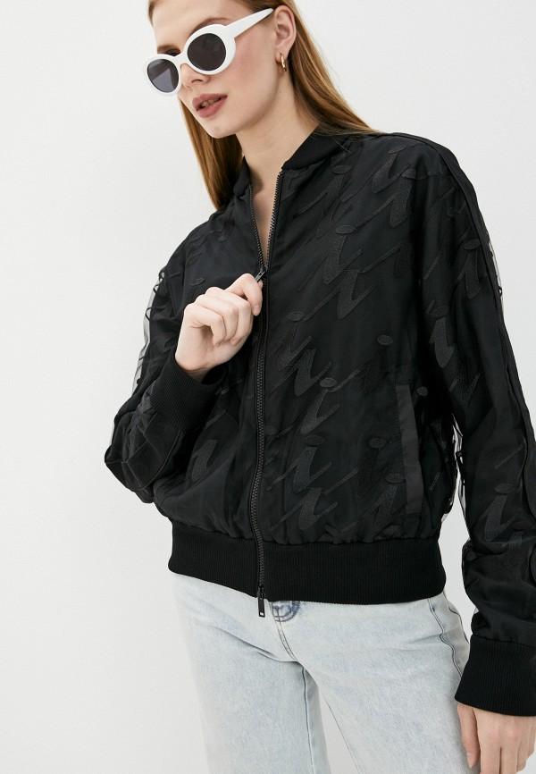 женская легкие куртка iceberg, черная