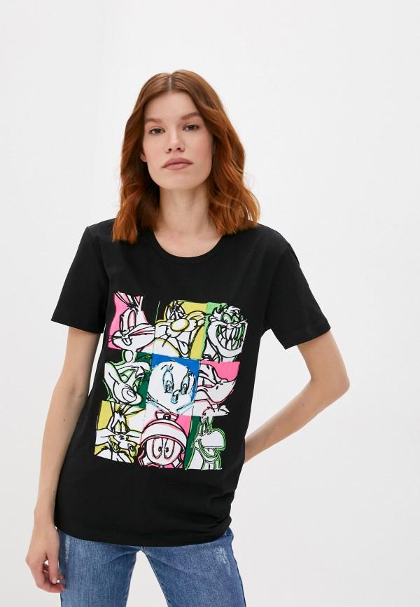 женская футболка iceberg, черная