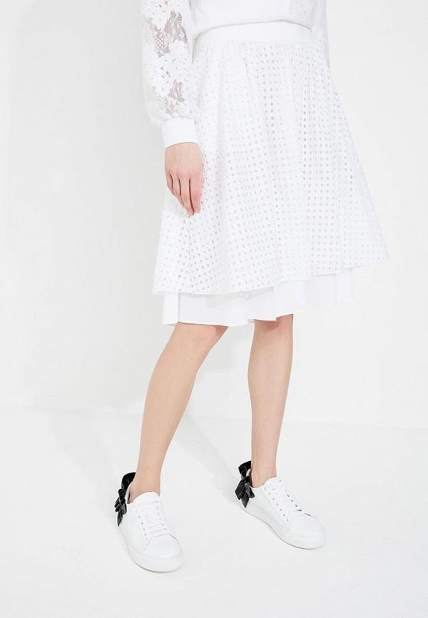женская юбка миди iceberg, белая