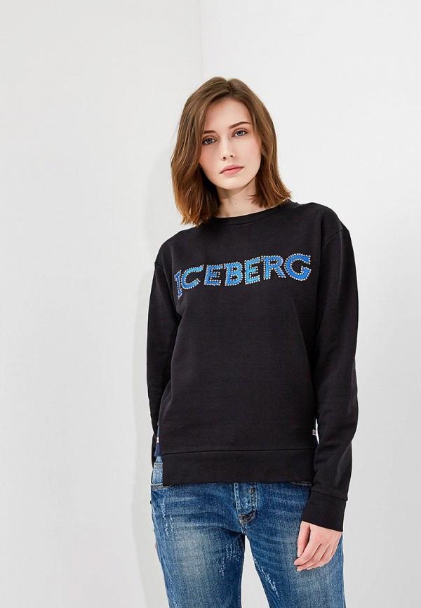женский свитшот iceberg, черный