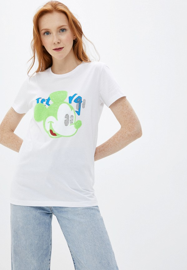 женская футболка с коротким рукавом iceberg, белая
