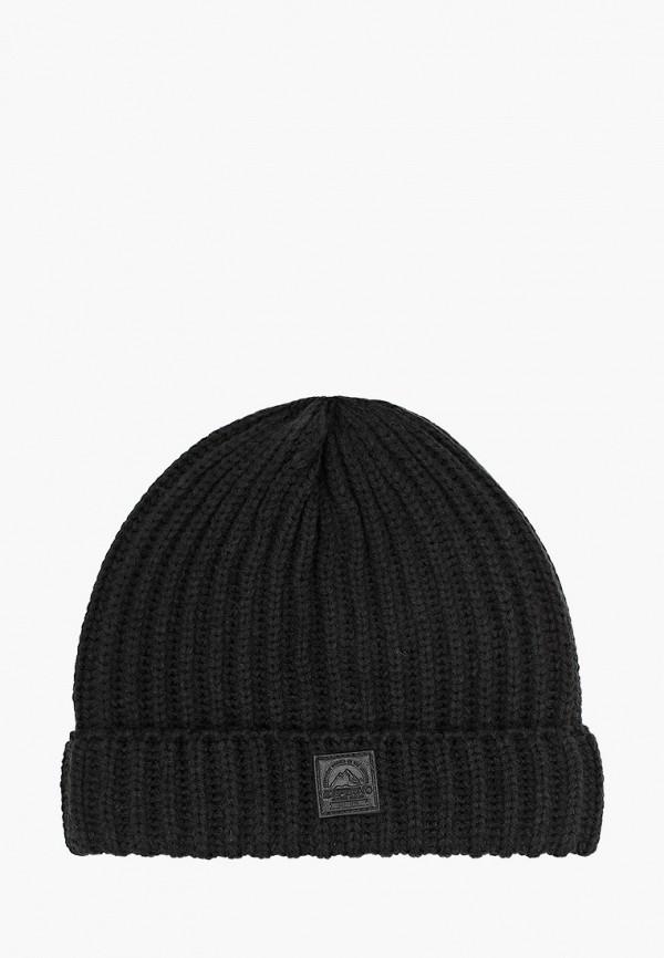 мужская шапка icepeak, черная