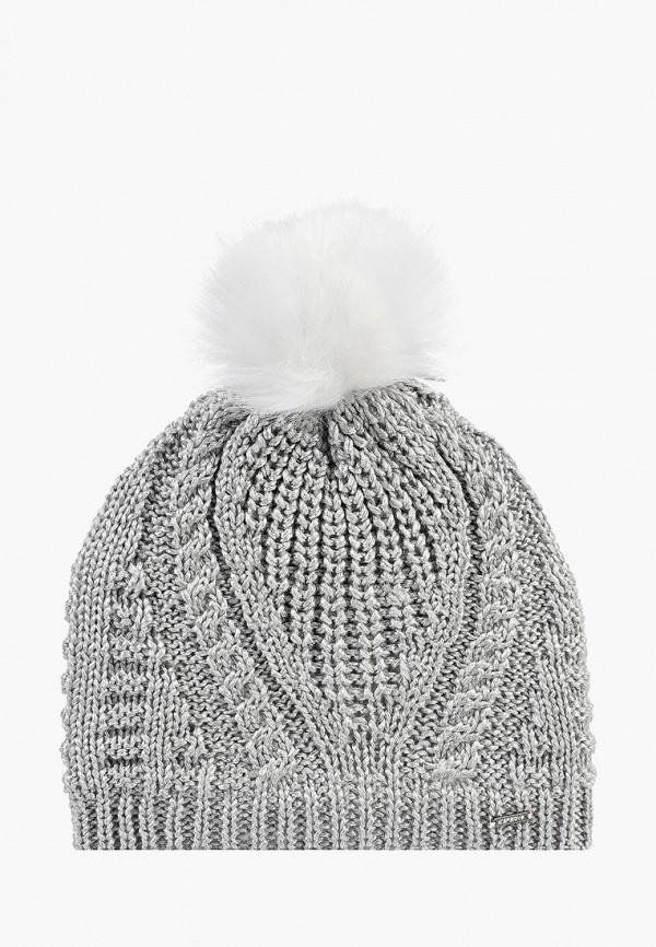 женская шапка icepeak, серебряная