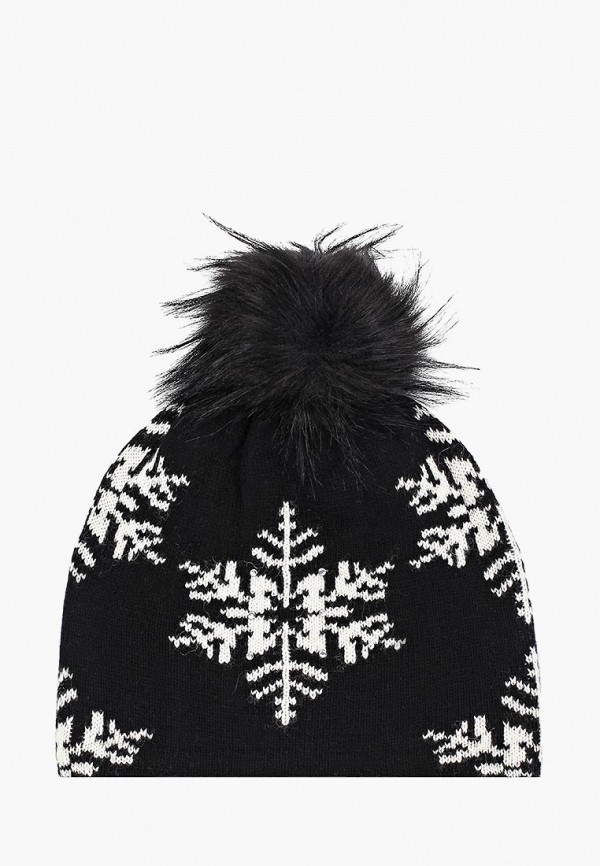 женская шапка icepeak, черная
