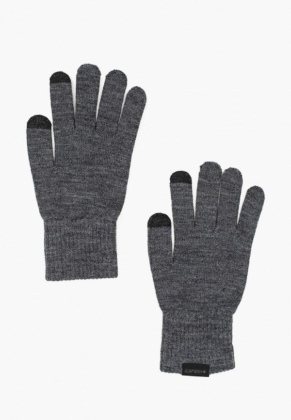 женские перчатки icepeak, серые