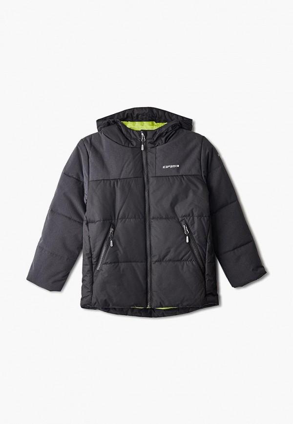 куртка icepeak для мальчика, черная