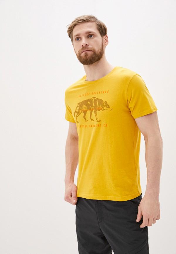 мужская спортивные футболка icepeak, желтая