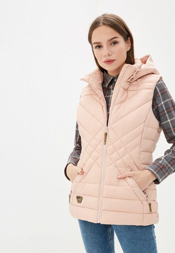 женский жилет icepeak, розовый