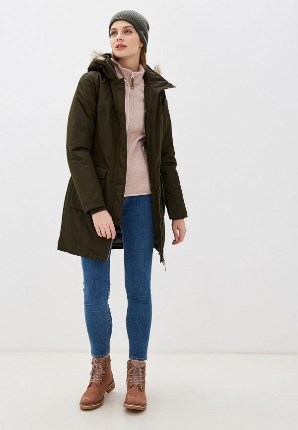 Фото 2 - Куртку утепленная Icepeak цвета хаки