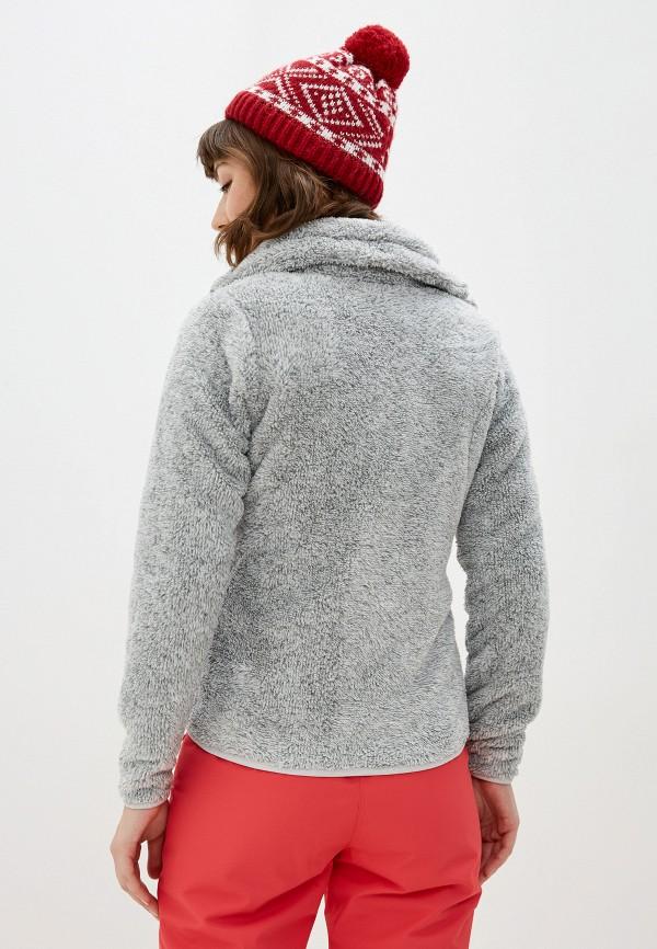 Фото 3 - Женскую толстовку или олимпийку Icepeak серого цвета