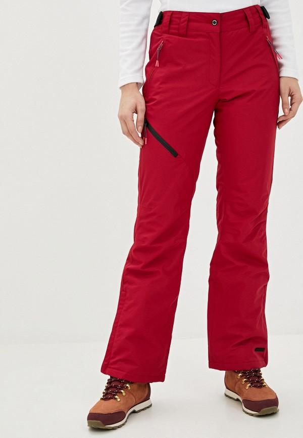 женские брюки icepeak, бордовые