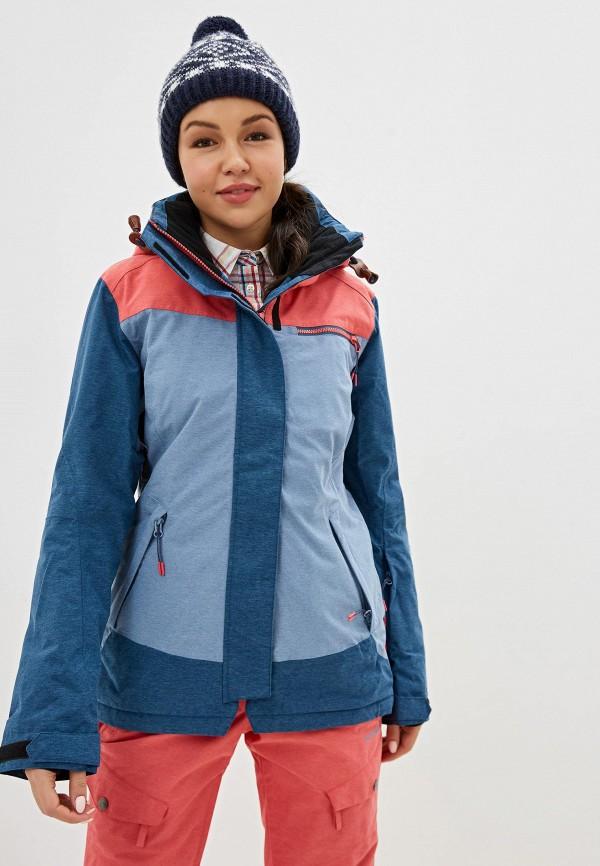женская куртка icepeak, голубая