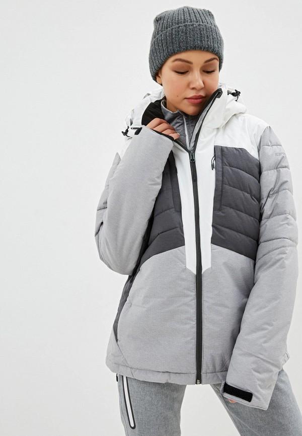 женская куртка icepeak, серая