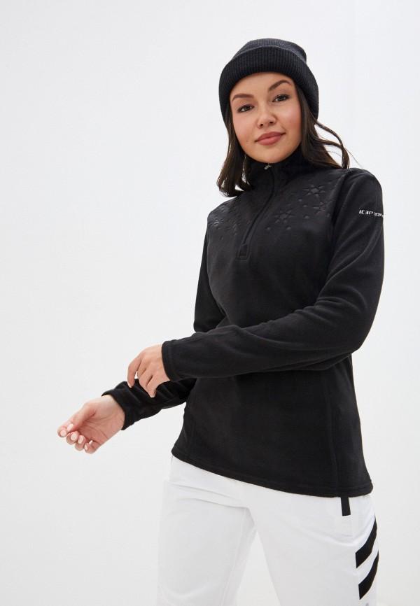 женская олимпийка icepeak, черная